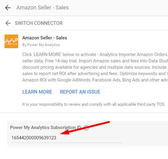 Troubleshooting Amazon Connectors - Power My Analytics